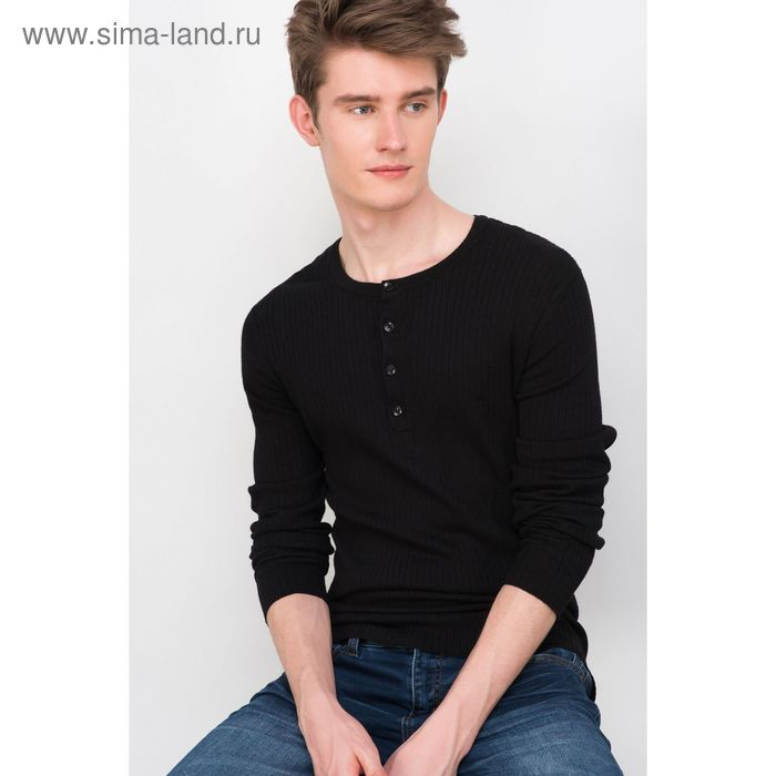 Джемпер мужской, цвет чёрный, размер 48 (M), рост 176 см (арт. 619030802)