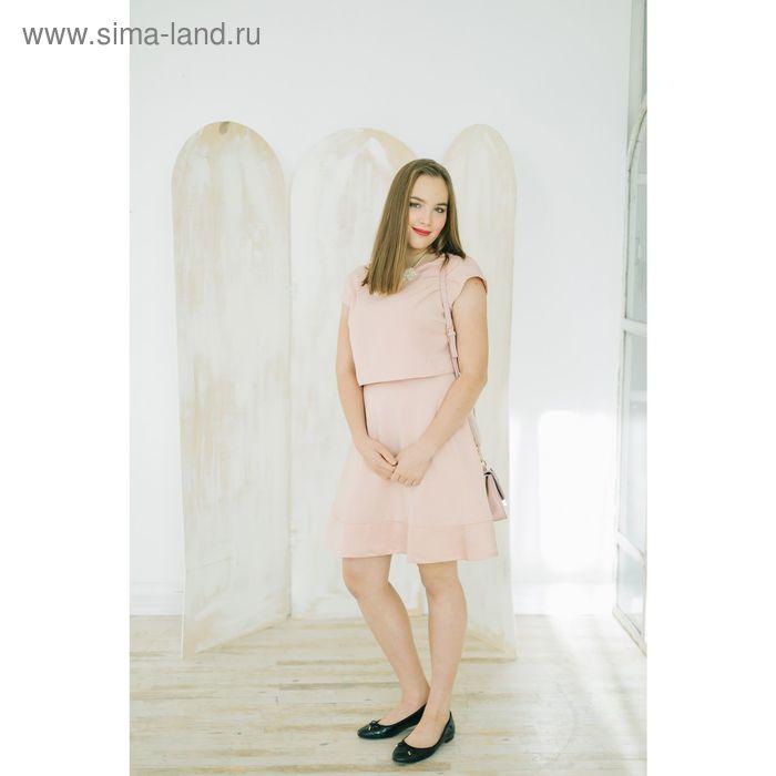Платье женское, цвет розовый, размер 46-48 (L), рост 170 см (арт. 1611312555)