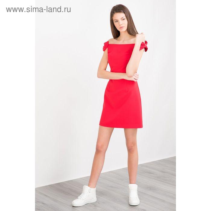 Платье женское, цвет красный, размер 44 (S), рост 170 см (арт. 1611309552)