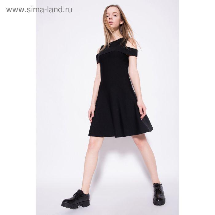 Платье женское, цвет чёрный, размер 46 (M), рост 170 см (арт. 1611206560)