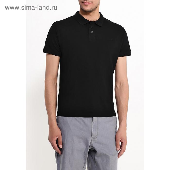 Футболка-поло  мужская, цвет чёрный, размер 46 (S), рост 176 см (арт. 619040411)