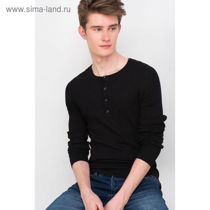 Джемпер мужской, цвет чёрный, размер 46 (S), рост 176 см (арт. 619030802)