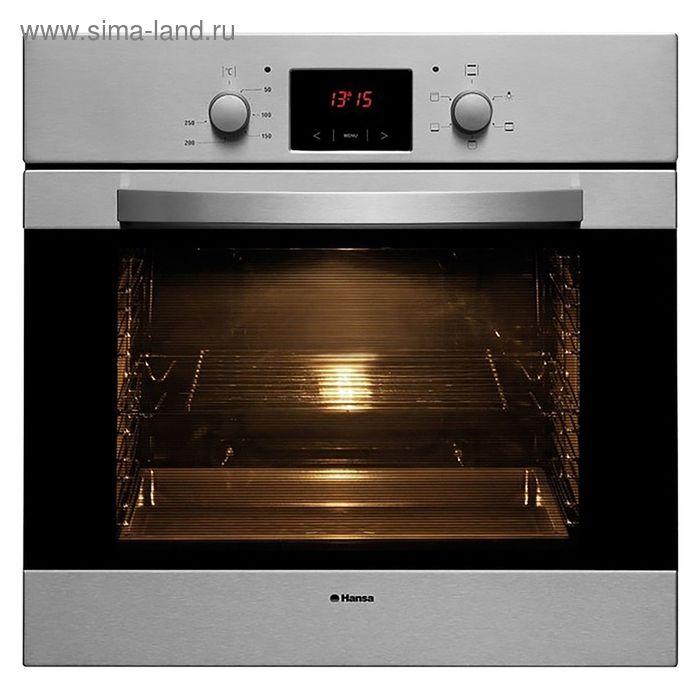 Духовой шкаф Hansa BOEI 62030030, электрический, 66 л,  серебристый