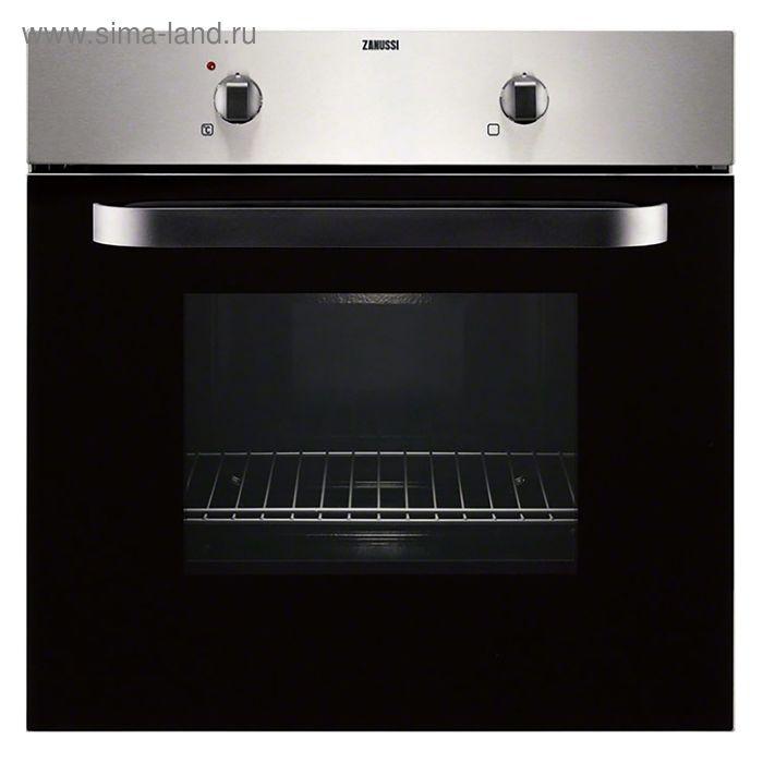 Духовой шкаф Zanussi ZZB510301X, электрический, 58 л, нержавеющая сталь/черный