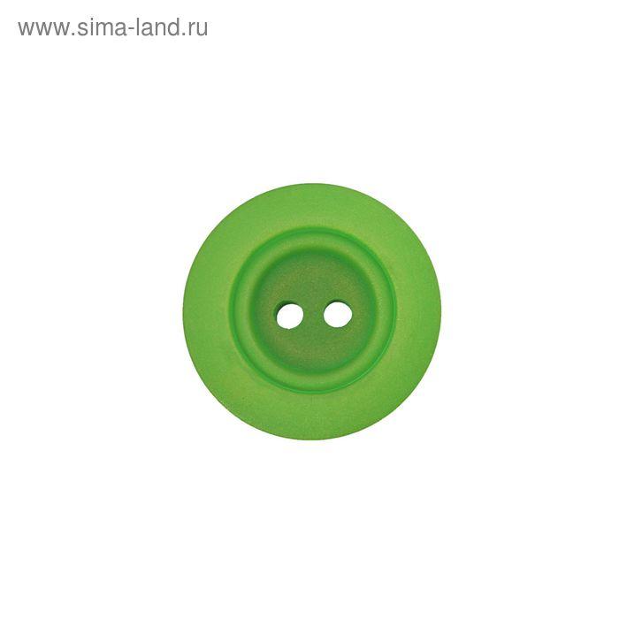 Пуговица, 2 прокола, 11мм, цвет светло-зелёный