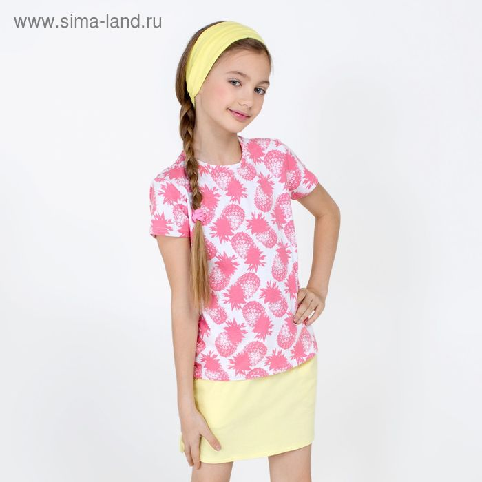 Футболка для девочки Tyche_ind, рост 146 см, цвет розовый (арт. 20210110031_Д)