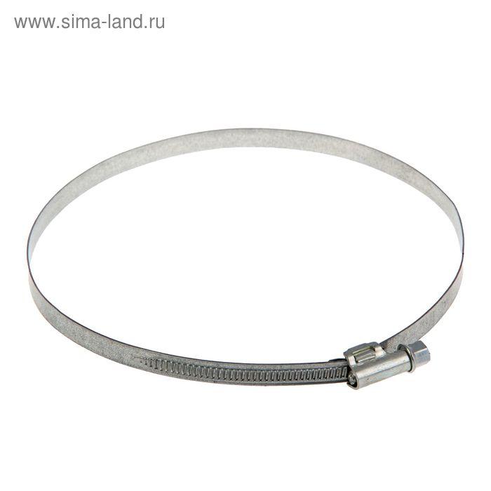 Хомут червячный «Стандарт», диаметр 140-160 мм, оцинкованный