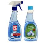 "Средство для чистки  стекол и зеркал Еврогарант  ""Голубой лед"" + 1 блок,  500 мл+500 мл"