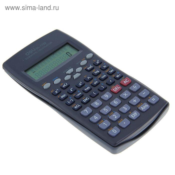 Калькулятор инженерный 10-разрядный DL-1710 двустрочный DELI