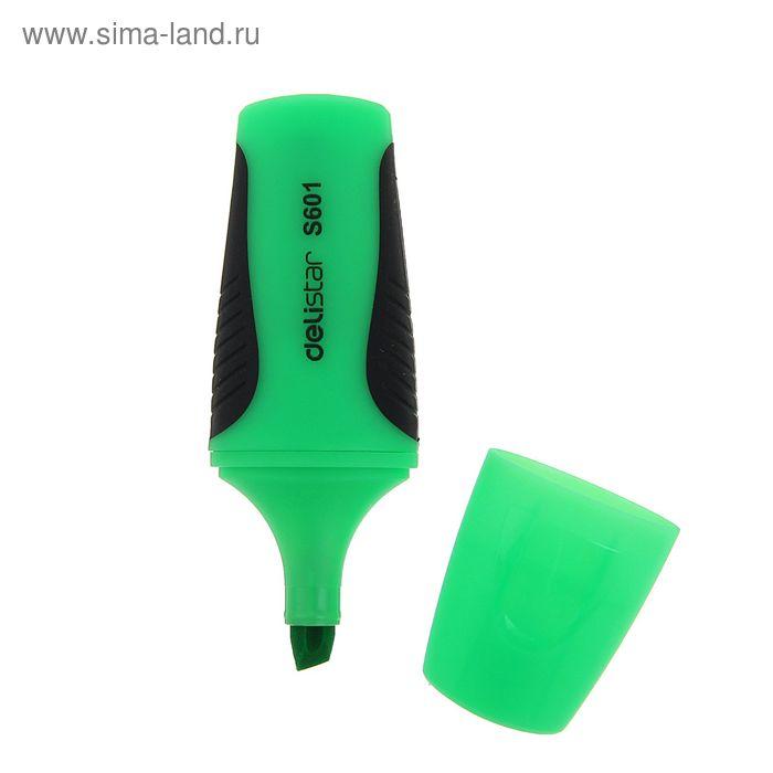 Маркер текстовыделитель 5 мм DELI S601 зелёный