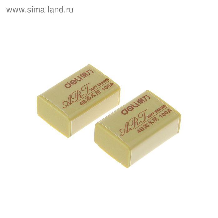 Набор ластиков 2шт высокополимерных блистере 32х22х12мм DELI