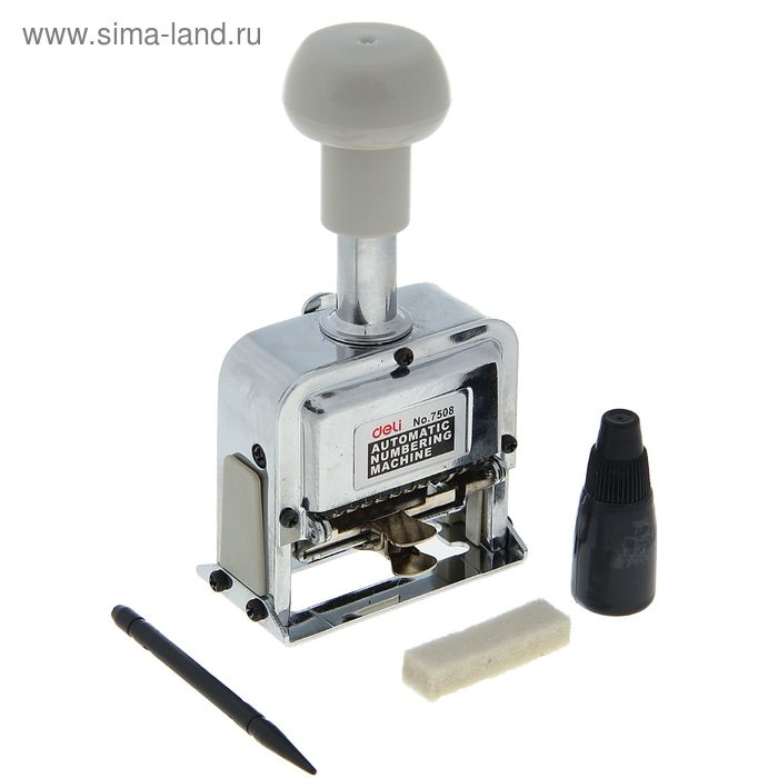 Нумератор 8 разрядный металлический автоматический DELI