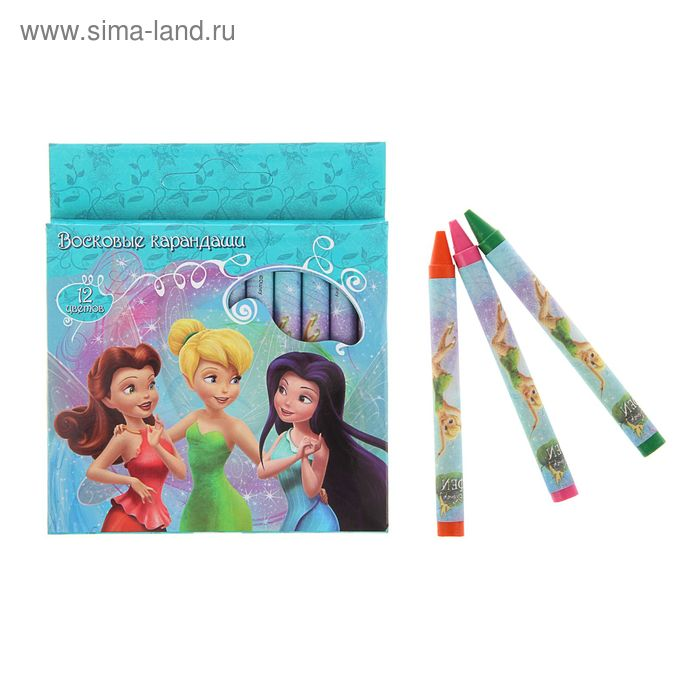 Мелки восковые 12 цветов Disney. Феи 28888