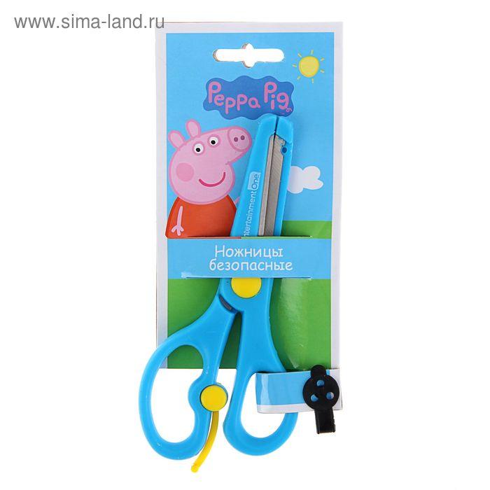 """Ножницы детские 13,5см """"Свинка Пеппа"""", пластиковые ручки, безопасные скругленные концы лезвий"""
