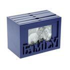 """Фотобокс дерево """"FAMILY"""" на 96 фото 13х18 см синий 20,7х11,8х15 см"""