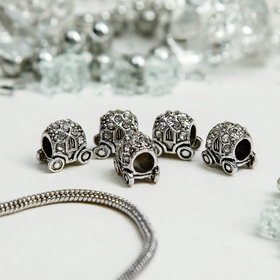 Талисман 'Карета', цвет серебро Ош