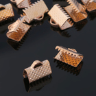 Концевик-зажим, цвет золото, 10 мм (набор 20шт)