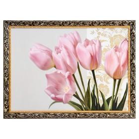 """Картина """"Тюльпаны"""" рама микс"""