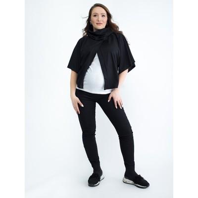 Блузка для беременных 2206, цвет черный, размер 48, рост 170
