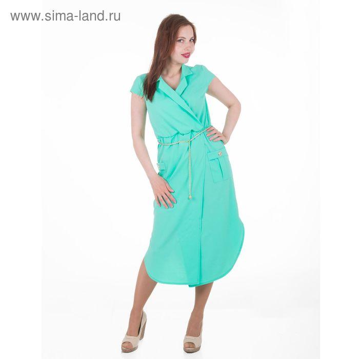 Платье женское, размер 46, рост 168, цвет мята (арт. 17251)