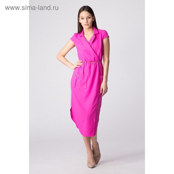 Платье женское, размер 50, рост 168, цвет фиолетовый (арт. 17251 С+)