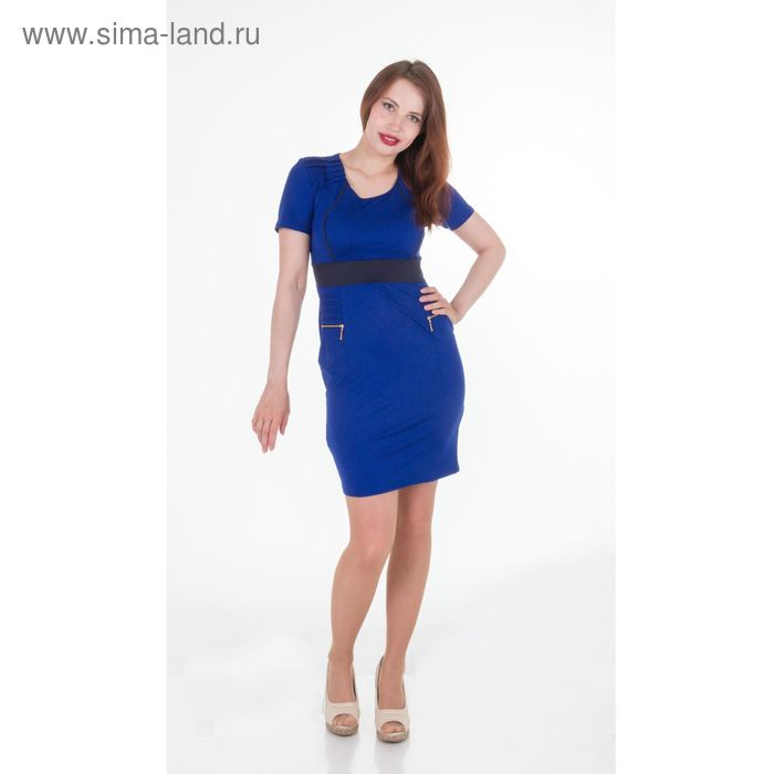 Платье женское, размер 44, рост 168, цвет электрик (арт.1930)