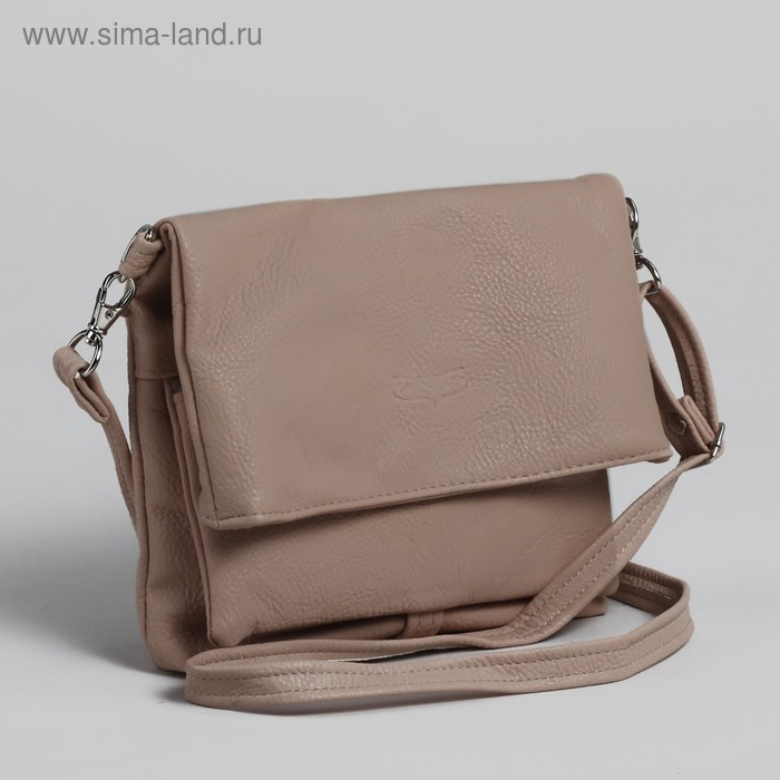 Сумка женская на молнии, 1 отдел, 1 наружный карман, регулируемый ремень, розовая