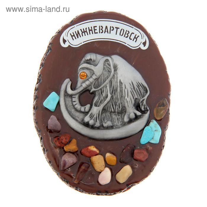 """Магнит """"Нижневартовск"""" с россыпью натуральных камней"""