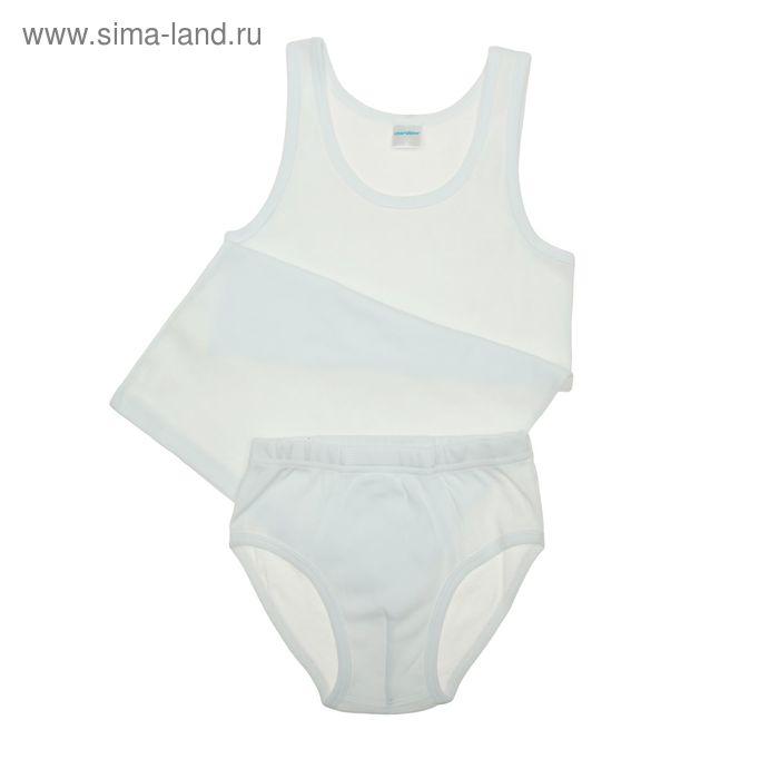 Комплект для мальчика (майка, трусы), рост 140 см (72), цвет белый (арт. CAJ 3137_Д)