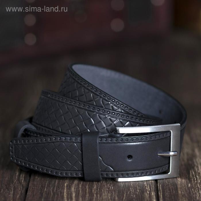Ремень мужской, винт, пряжка под металл, ширина- 3,4см, чёрный