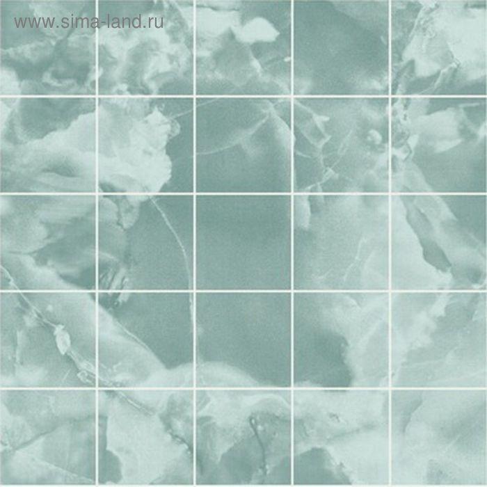 "Панель листовая ХДФ ""Малахит Морская волна"" 2440х1220х3 мм"