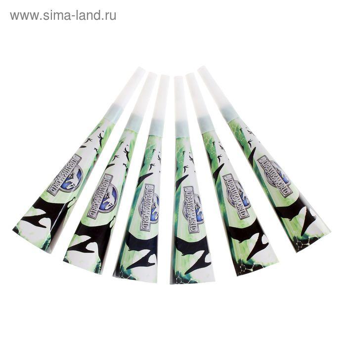"""Набор бумажных дудочек """"Парк Юрского периода""""  (набор 6 шт.) 30277"""