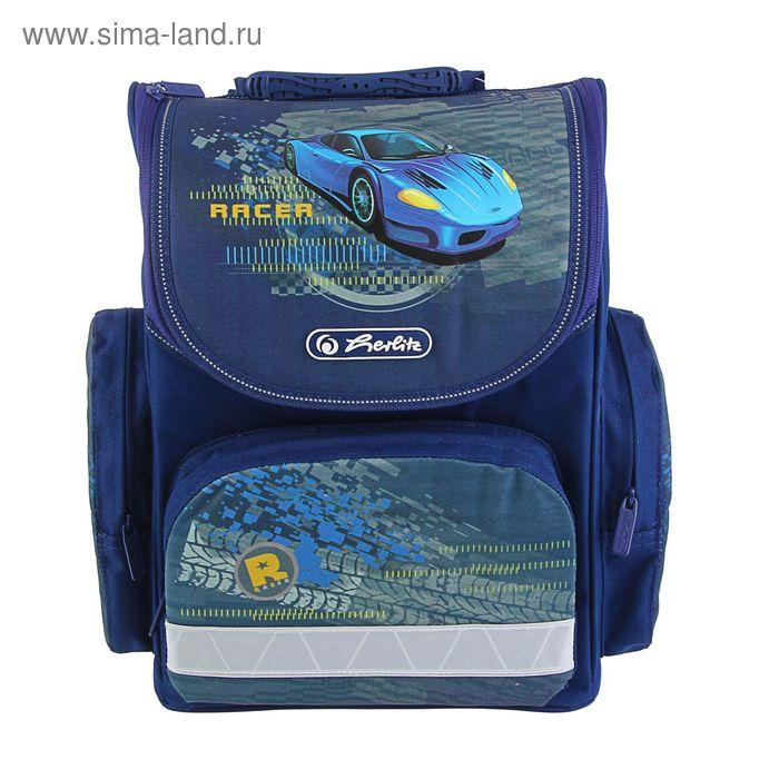 Ранец Стандарт Herlitz MINI 34.5*32*19, для мальчика, Blue Racer, синий