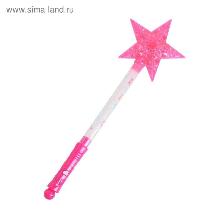 "Световая палочка ""Звёздочка"", цвет розовый"