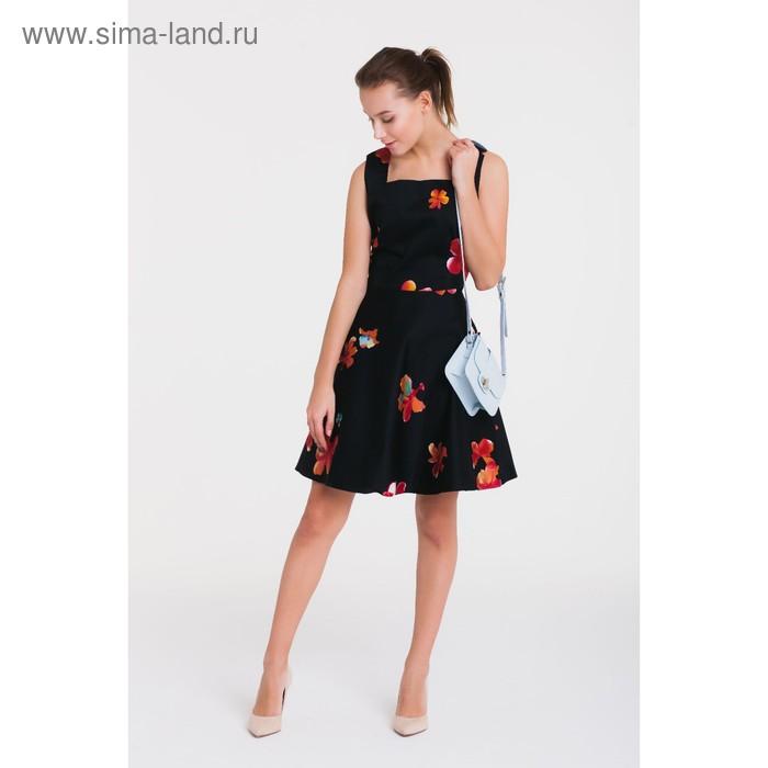 Платье 4788а, размер 44, рост 164 см, цвет черный/красный