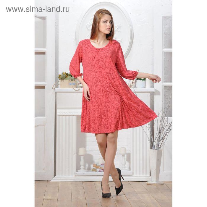 Платье 4791, размер 44, рост 164 см, цвет коралл/черный