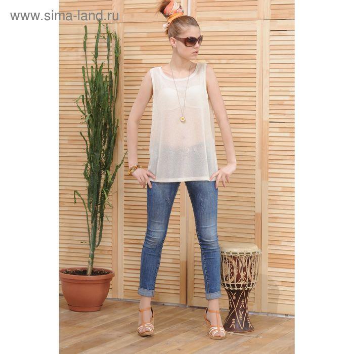 Блуза 4809а, размер 46, рост 164 см, цвет молочный