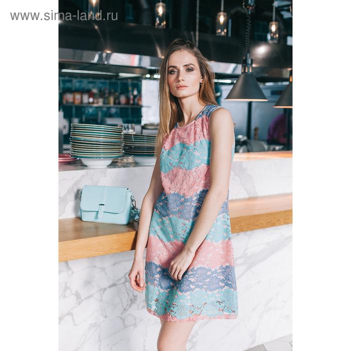 Платье 4802, размер 46, рост 164 см, цвет розовый/мятный