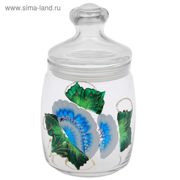 """Банка 940 мл """"Цветочный рай"""", с крышкой CESNI"""