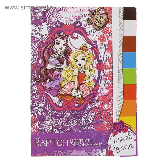Картон цветн А4 8л 8цв Mattel EAH, мелов