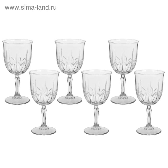 "Набор фужеров для вина 335 мл ""Карат"", 6 шт"