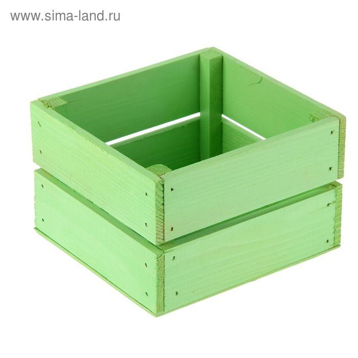 Ящик реечный № 5 зеленый, 11 х 12 х 9 см
