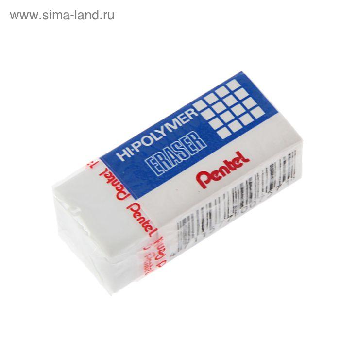 Ластик Pentel синтетика Hi-Polymer 35*16*11, белый, микрокапсулы растворяют надпись
