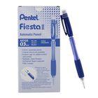 Карандаш механический Pentel Fiesta II AX125, 0.5 мм, резиновый упор, синий корпус