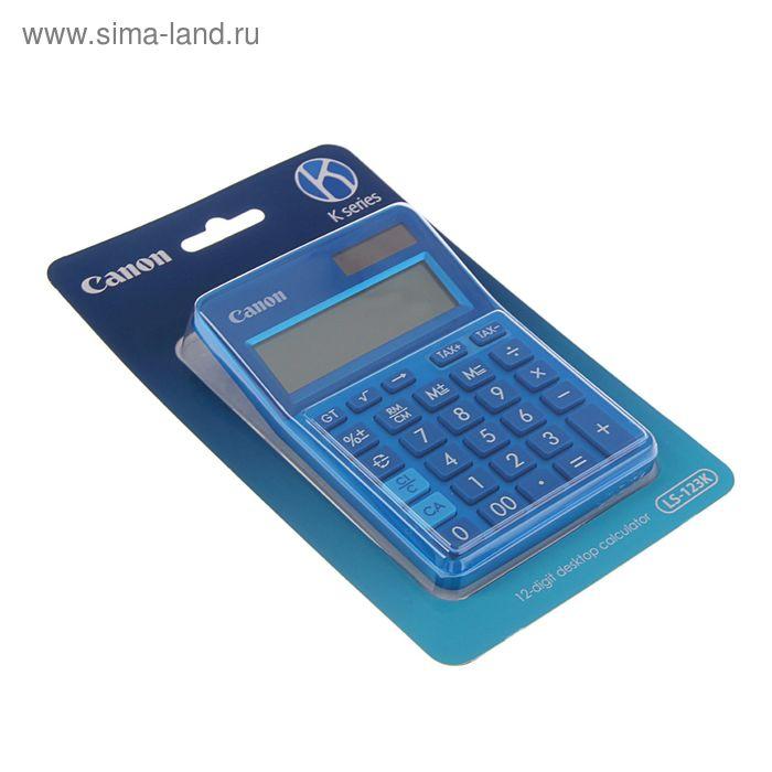 Калькулятор настольный 12-разрядный LS-123-K-MBL, синий