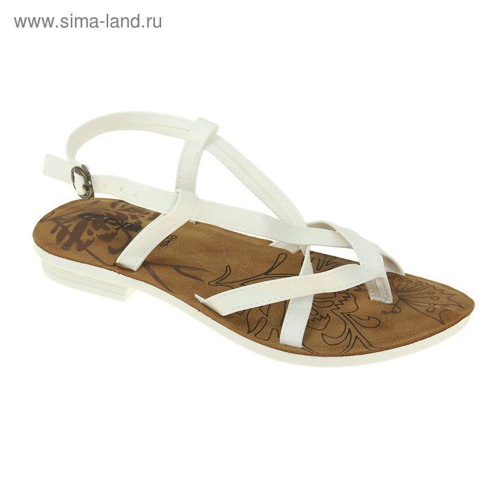 Туфли летние женские открытые, цвет белый, размер 40 (арт. 143015-2 EW)