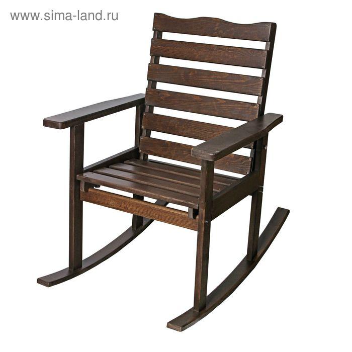 """Кресло-качалка, шезлонг """"Дачник"""" цвет """"Венге"""""""