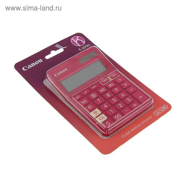 Калькулятор настольный 12-разрядный LS-123-K-MPK, розовый