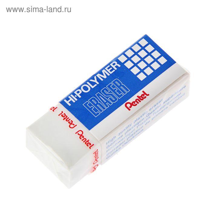Ластик Pentel синтетика Hi-Polymer 33*17.5*11.5, белый, микрокапсулы растворяют надпись