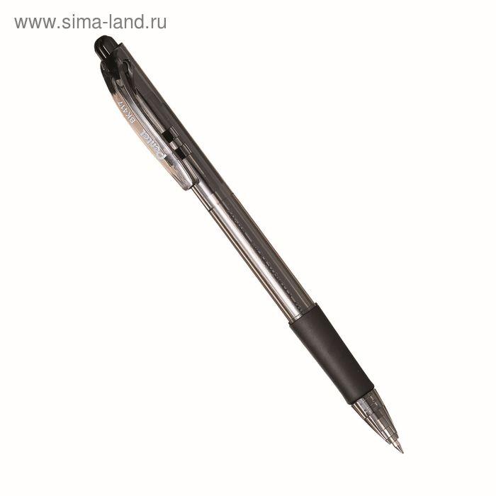 Ручка шариковая автомат Pentel FineLine 417, резиновый упор, 1.0 мм, масляная основа, черный стержень (BKS7E)